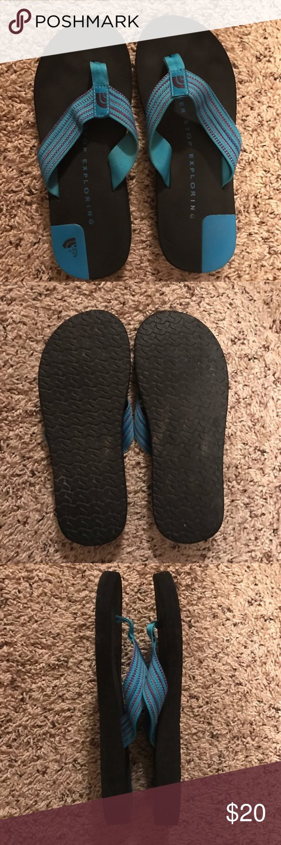 North Face Sandals! Lightly worn North Face blue sandals! Very comfortable. The North Face Shoes Sandals