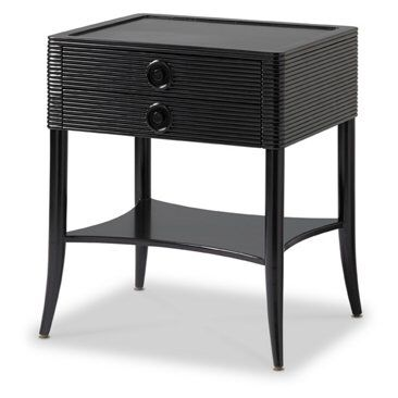 Check out this item at One Kings Lane! Tambour Nightstand, Ebony