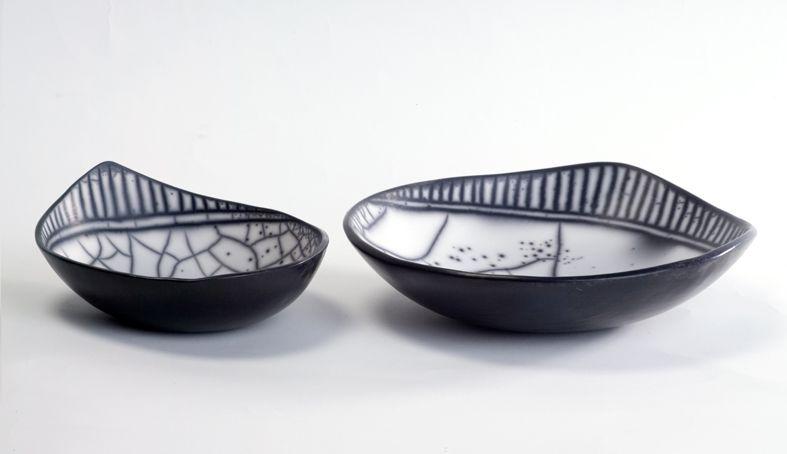ceramica come mestiere: Centrotavola in Raku Naked. L