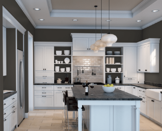 The 10 Best Dark Colours For A Dark Room Or Basement Kylie M Interiors Kitchen Design Trendy Kitchen Colors Kitchen Colors