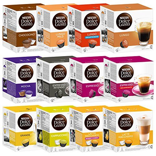 Nescaf Dolce Gusto Capsules Allinclusive Set 12 Packs 192 Capsules Check Out This Great Product This Is An Affil Dolce Gusto Coffee Capsules Nescafe Coffee
