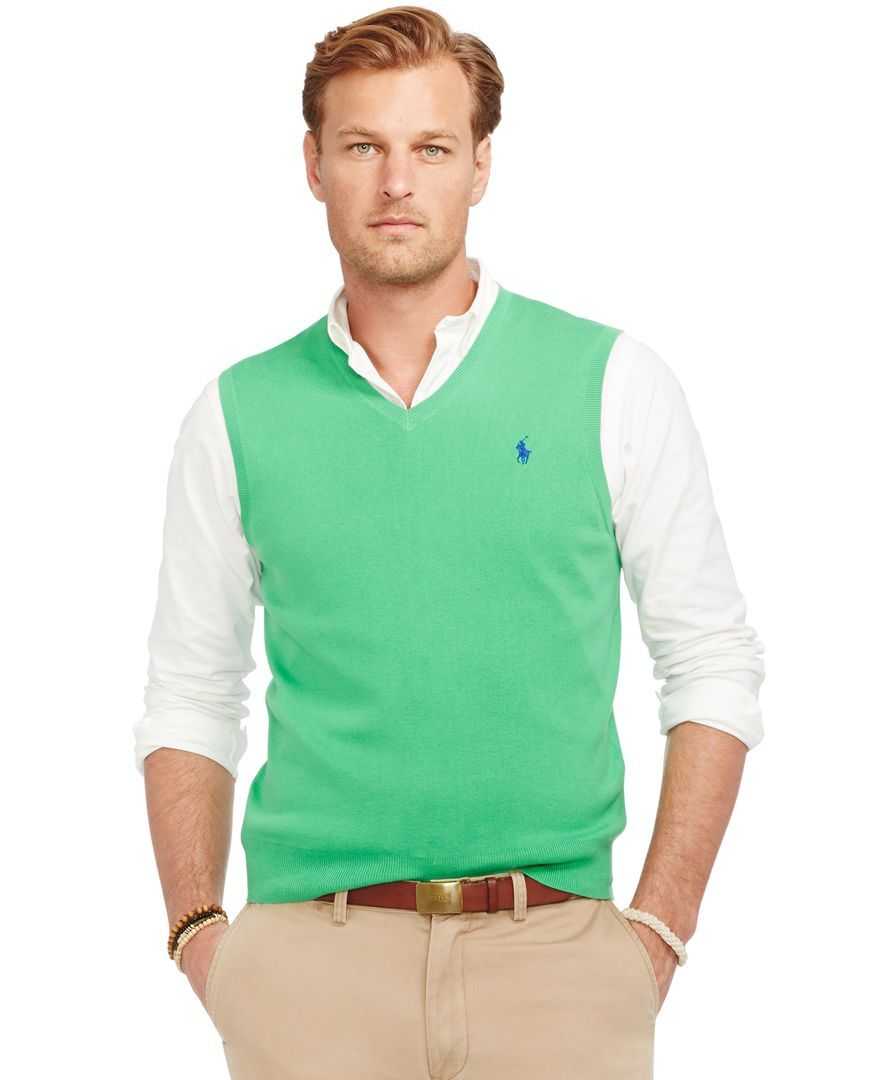 f11af0a3 Polo Ralph Lauren Big and Tall Pima V-Neck Vest | Preppy clothes ...
