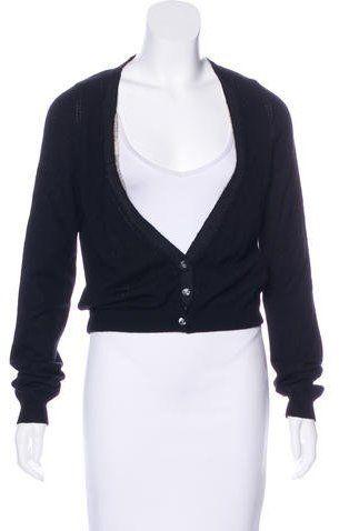 0123122202bb3 Lela Rose Cashmere Cropped Cardigan | Products | Cashmere, Lela rose ...