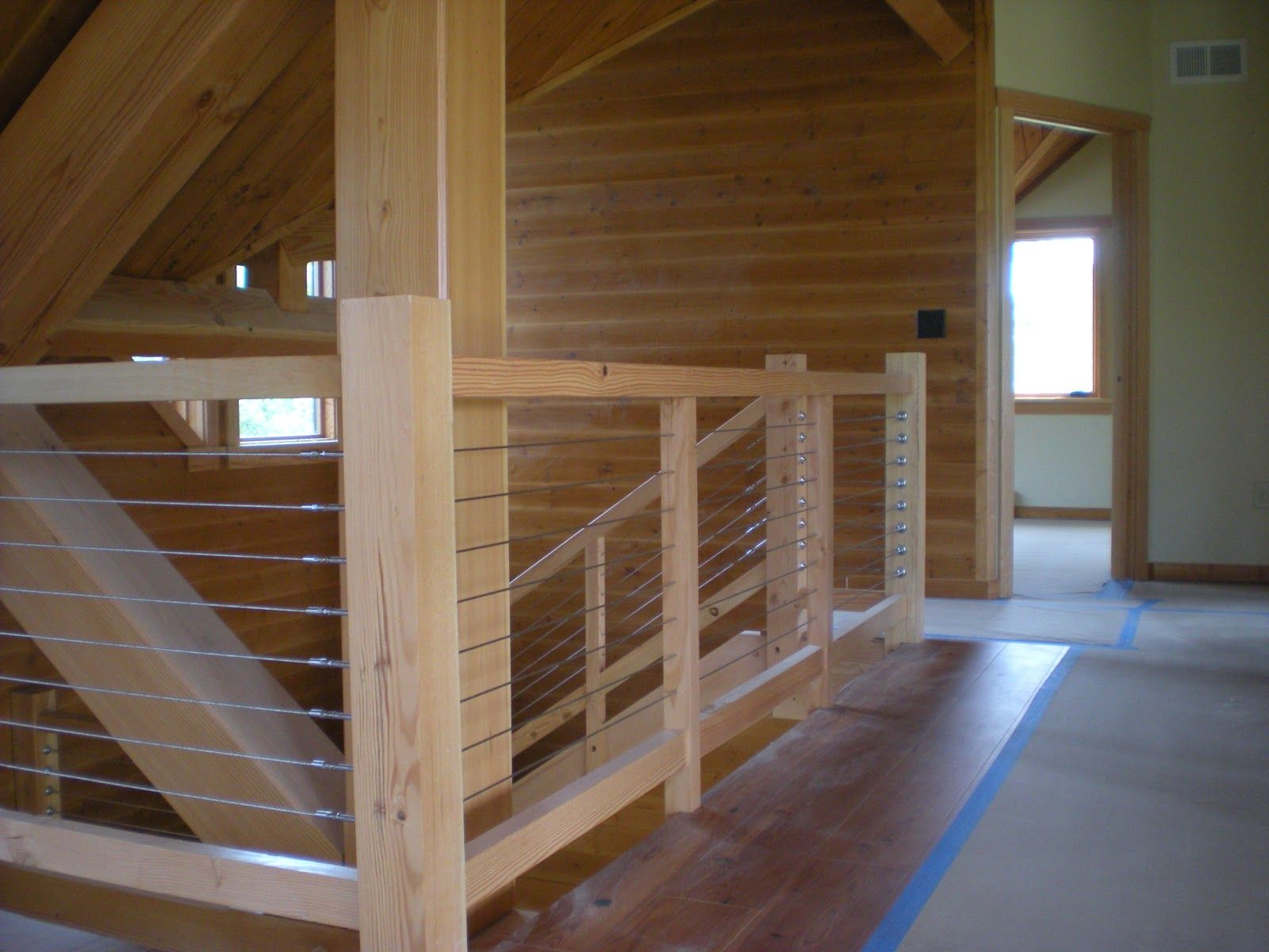 Best Railing Made Of Cables And Timbers Douglas Fir And 400 x 300