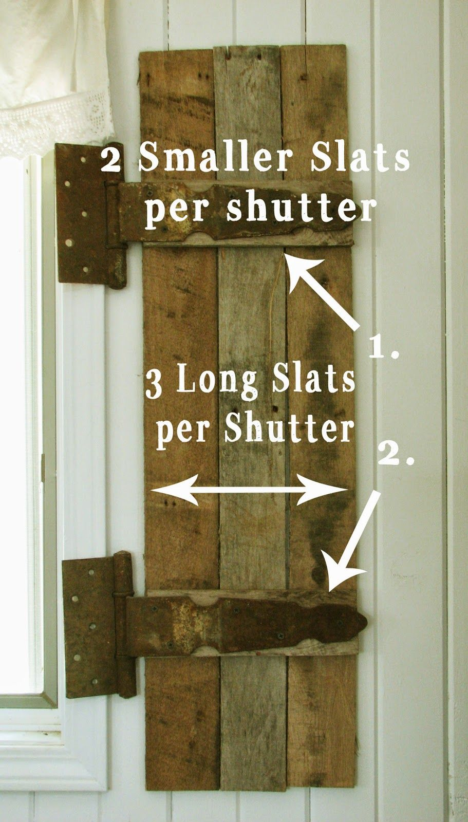 Remodelaholic Build Rustic Barn Wood Shutters From Pallets Diy Shutters Wood Shutters Diy Window Shutters Diy