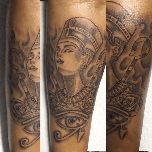 Tatouage Egyptien Bras Nefertiti Oeil Horus Tattoo Pinterest