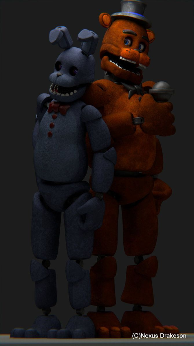 Bonnie and Freddy (Model Updated) by NexusDrakeson on