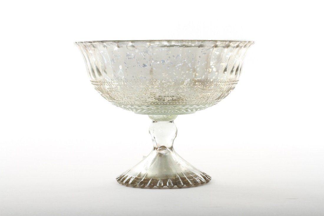 Koyal Wholesale Compote Bowl Centerpiece Mercury Glass Antique ...