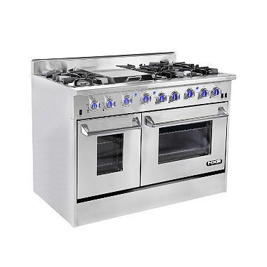 "NXR Elite StainlessSteel 48"" Gas Range with Convection"