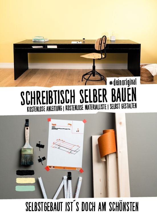 Diy Schreibtisch Aus Arbeitsplatte Pinterest