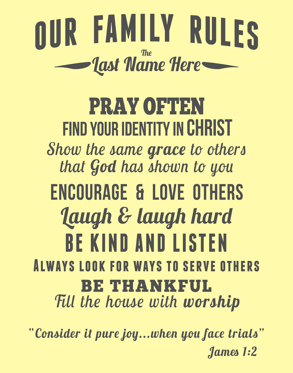 Family Rules For A Christ Centered Home Beautiful