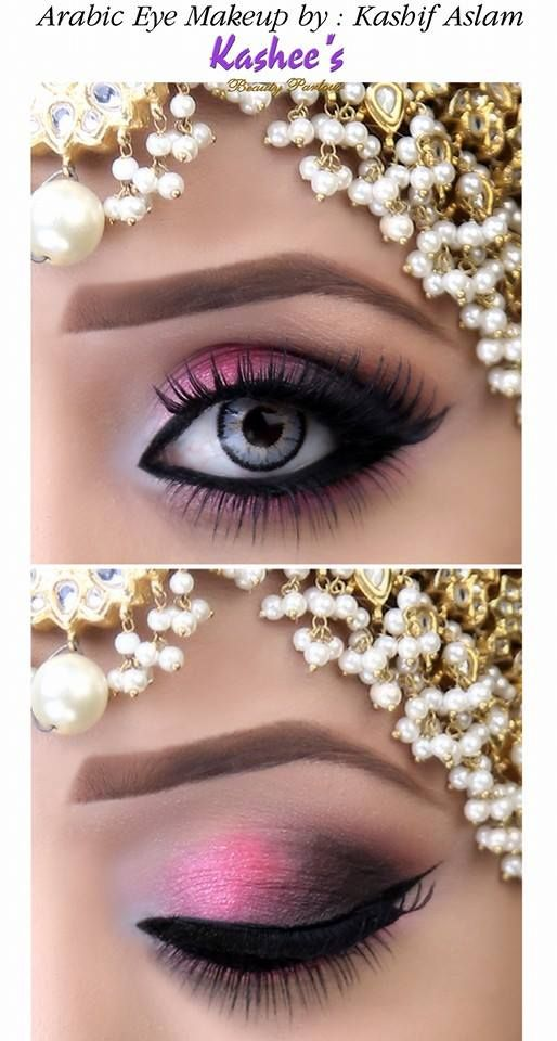 Arabic eye makeup done by Kashif Aslam by kashee 's beauty parlour