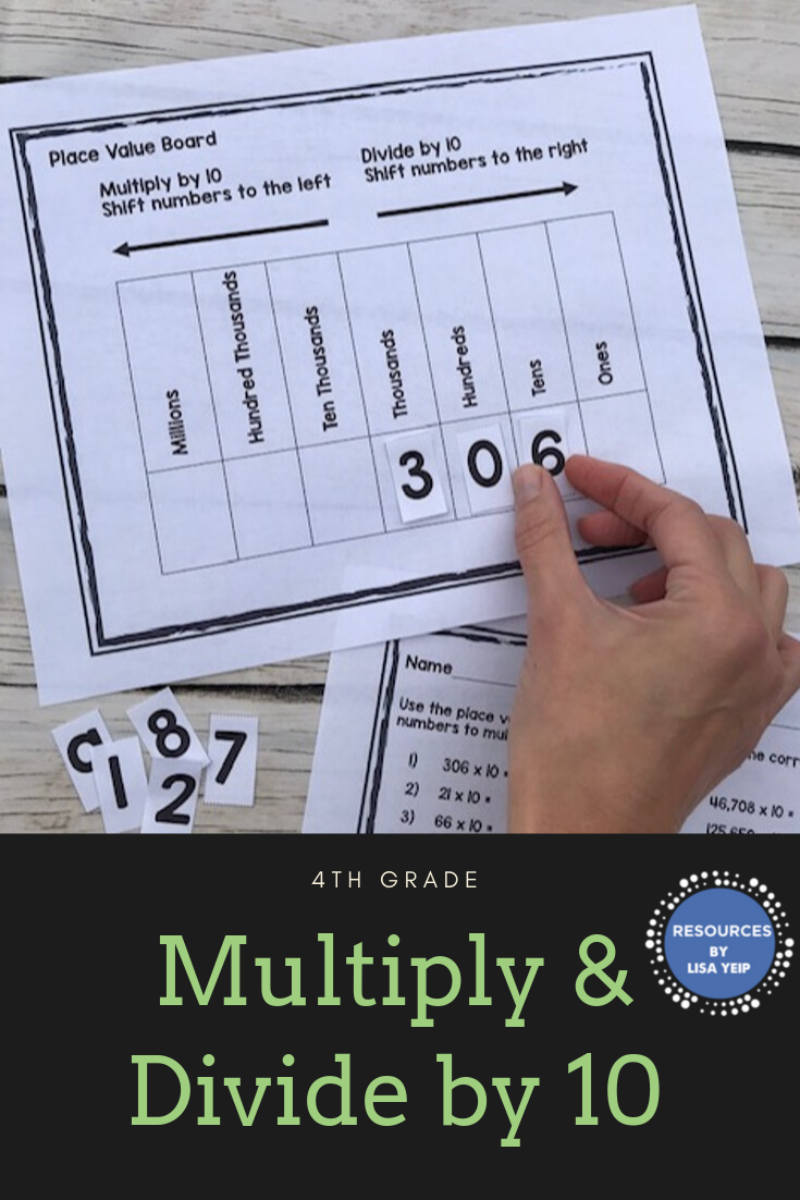 Multiplying And Dividing By 10 Printable Digital Versions Math Resources Common Core Reading Math Materials [ 1102 x 735 Pixel ]
