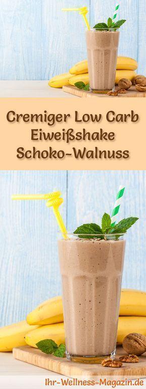 Schoko-Walnuss-Eiweißshake - Low-Carb-Eiweiß-Diät-Rezept #protiendiet