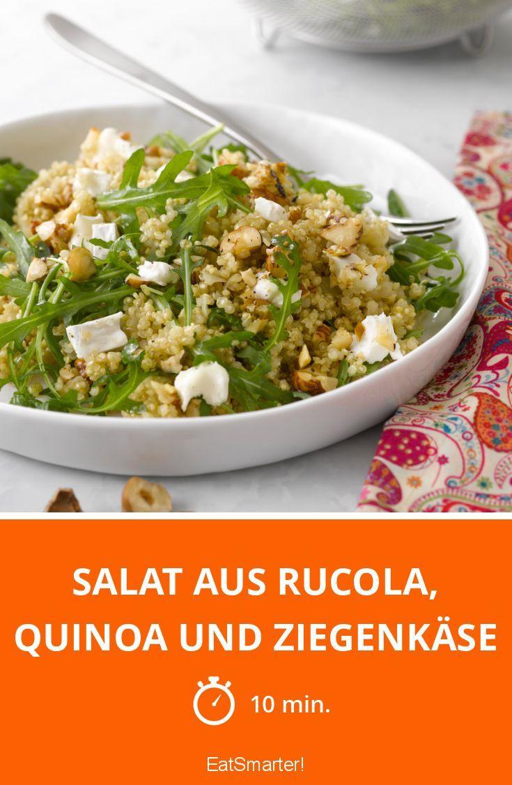 Photo of Salat aus Rucola, Quinoa und Ziegenkäse