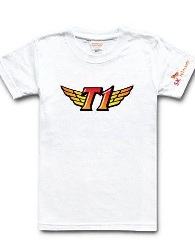 StarCraft team SK Telecom T1 tshirt for mens League of Legends tee-