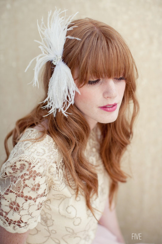 bow themed wedding hair accessory (by lo boheme, photo by katie neal) via emmaline bride