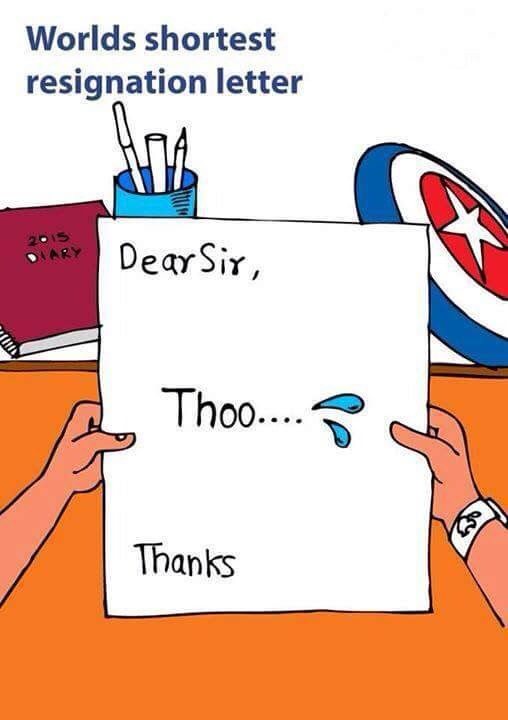 Best Resignation Letter Ever!! | Desi Humor | Pinterest