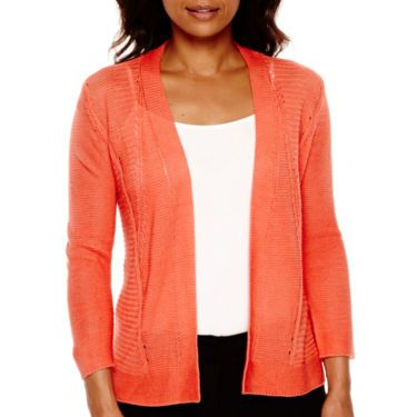 9a1b64bf62f Worthington® 3 4-Sleeve Open-Front Cardigan Sweater - JCPenney ...