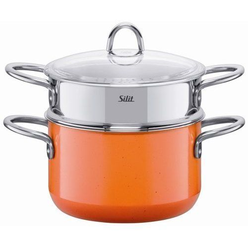 New Silit 3.75 Qt Sauce Pan + Stainless Steamer Insert.  Fairfaxer on Bonanza.com