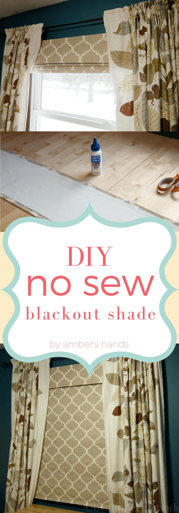 No Sew DIY Blackout Shade | Blackout shades, Diy window ...