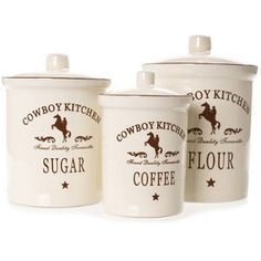 Cowboy Kitchen Canister Set
