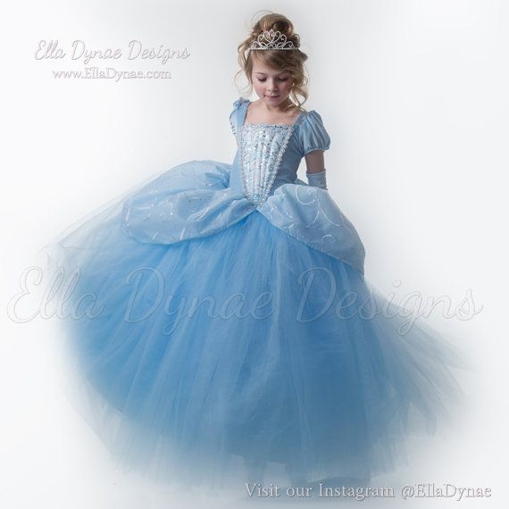 READY TO SHIP Cinderella Costume Classic Princess Gown Tutu Dress ...