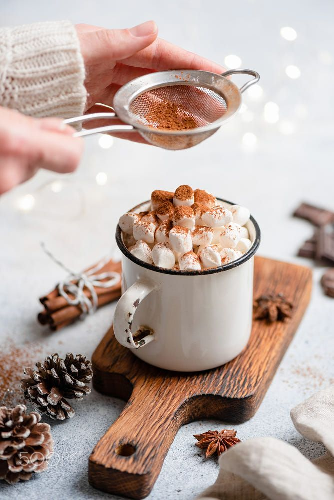 Photo of Hot chocolate with marshmallows in mug #hotchocolaterecipe Hot chocolate with ma…
