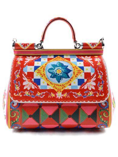 a31dffb43d9b DOLCE   GABBANA Dolce Gabbana Borsa A Mano St.maiolica.  dolcegabbana  bags   leather  hand bags