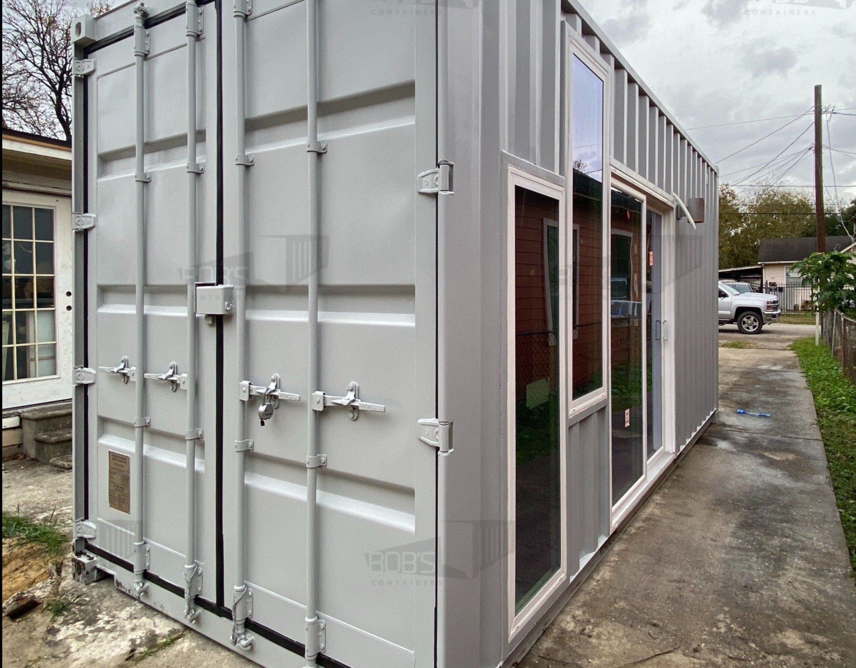 Photo of 20 ft Container Home – The Marfa Model – Panel / 20 ft Deck w/ Stairs / Off-grid Water Only