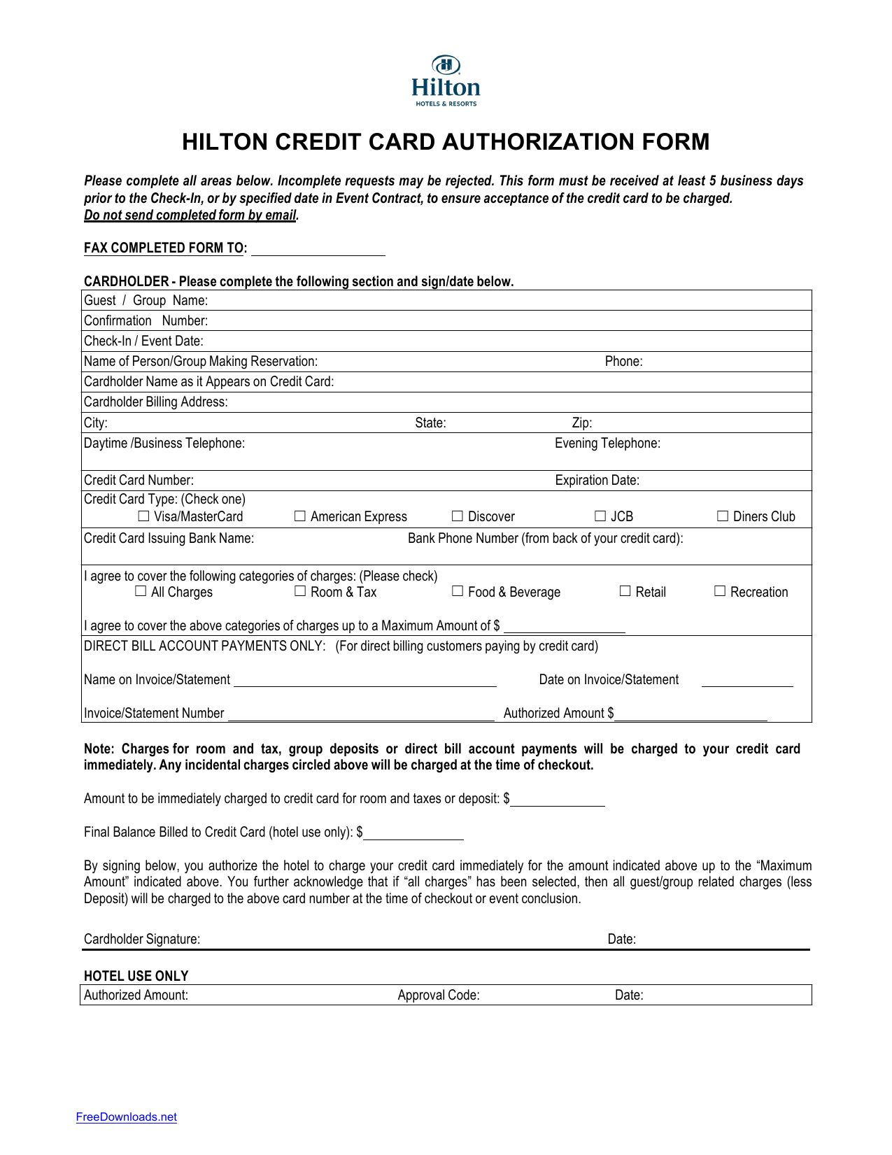 21+ Credit Card Authorization Form Template Pdf Fillable