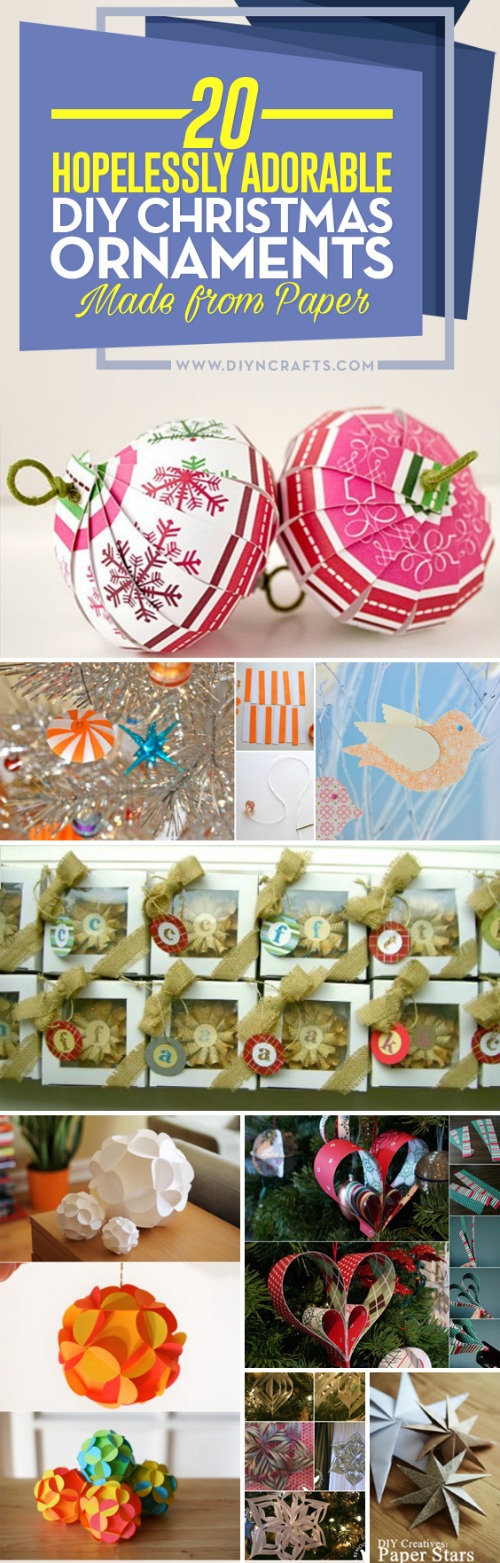 20 hopelessly adorable diy christmas ornaments made from paper 20 hopelessly adorable diy christmas ornaments made from paper solutioingenieria Images