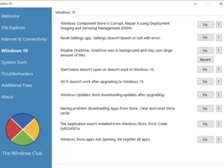 Fix Windows 10 Issues With Fixwin For Windows 10 Zdnet Windows 10 Windows Settings App