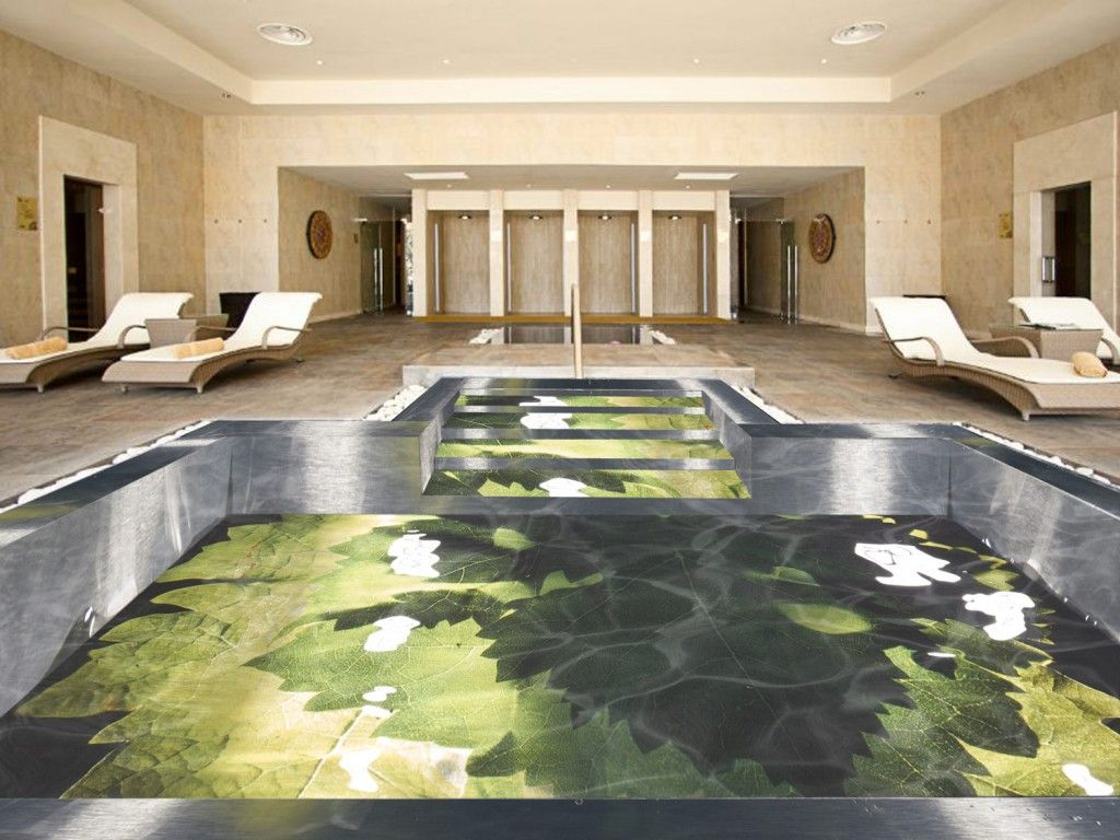 Swimming Pool design project with Wine leaves photograph - Piscine ...