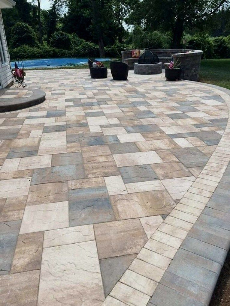 24 Home Depot Patio Style Challenge Reveal Homedepotpatio Homedepotpatiodesign Homedepotpatioideas A Patio Pavers Design Stone Patio Designs Patio Stones