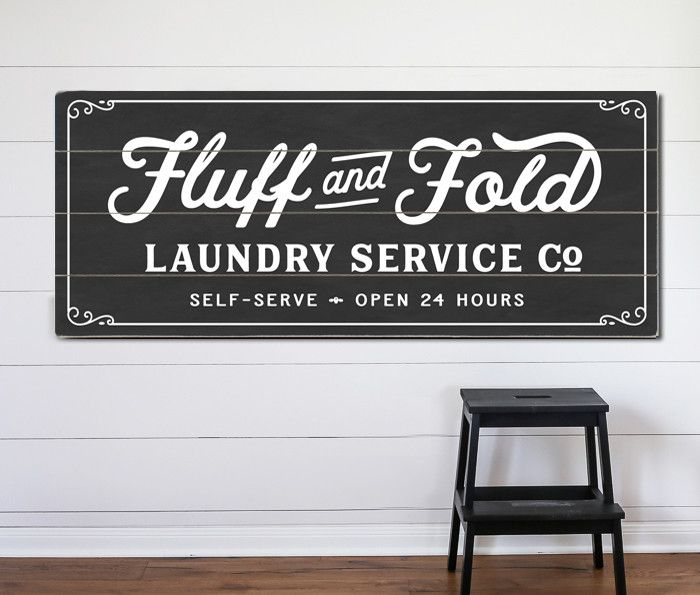 Fluff And Fold Sign Laundry Room Decor Signs Vintage Laundry