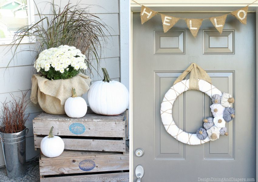13 Inexpensive, Cute Fall Front Porch Decorating Ideas