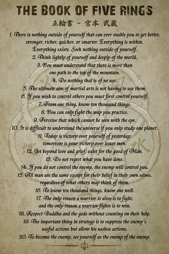book of 5 rings quotes
