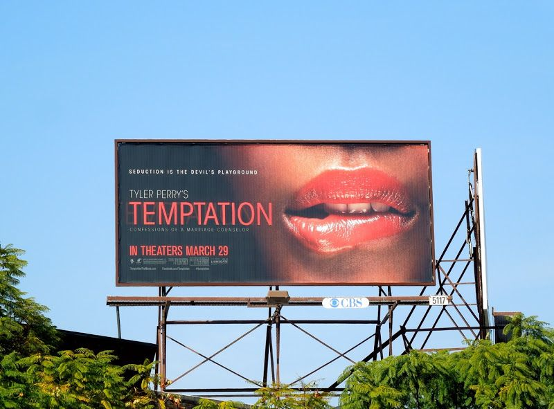 Tyler Perry's Temptation movie billboard