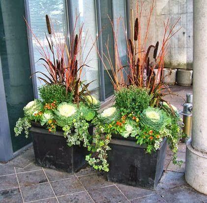 fall planter inspiration blumenk sten potager jardins und jardinage. Black Bedroom Furniture Sets. Home Design Ideas
