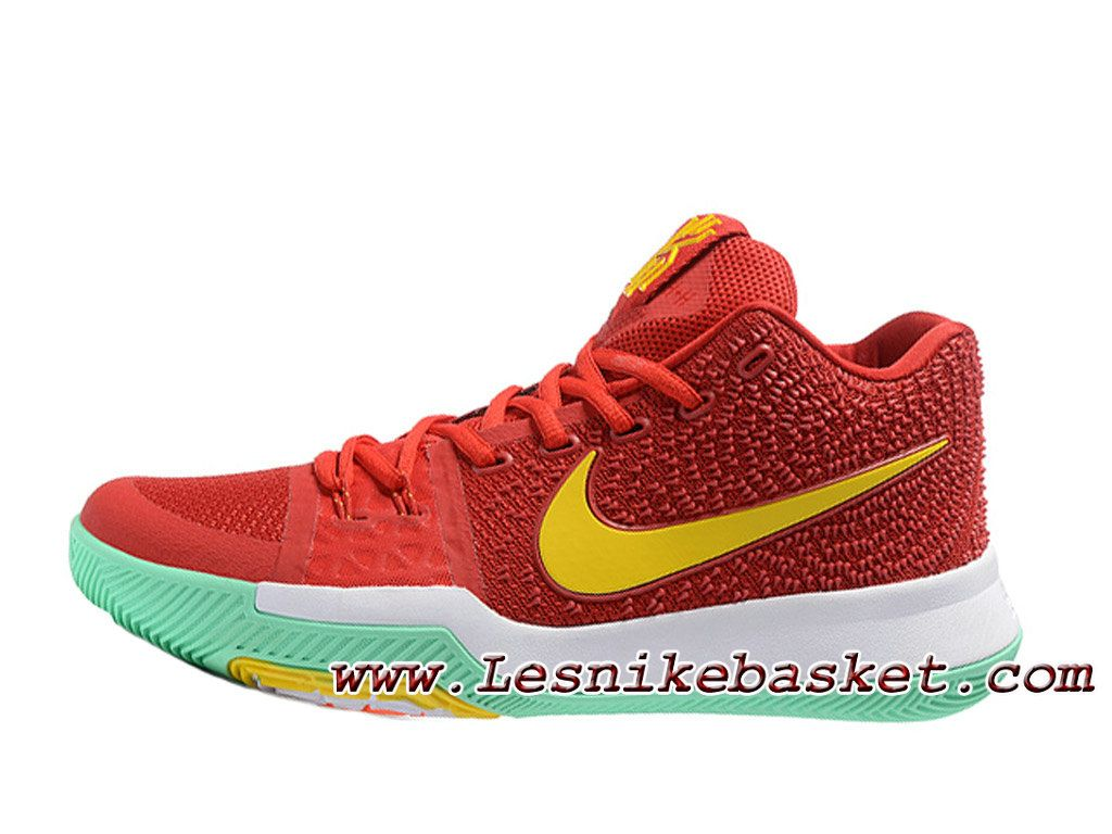 best service d949e d4636 ... wholesale nike kyrie 3 id 852395id6 rouge jaune chaussures nike prix  pour homme 94195 33ad0