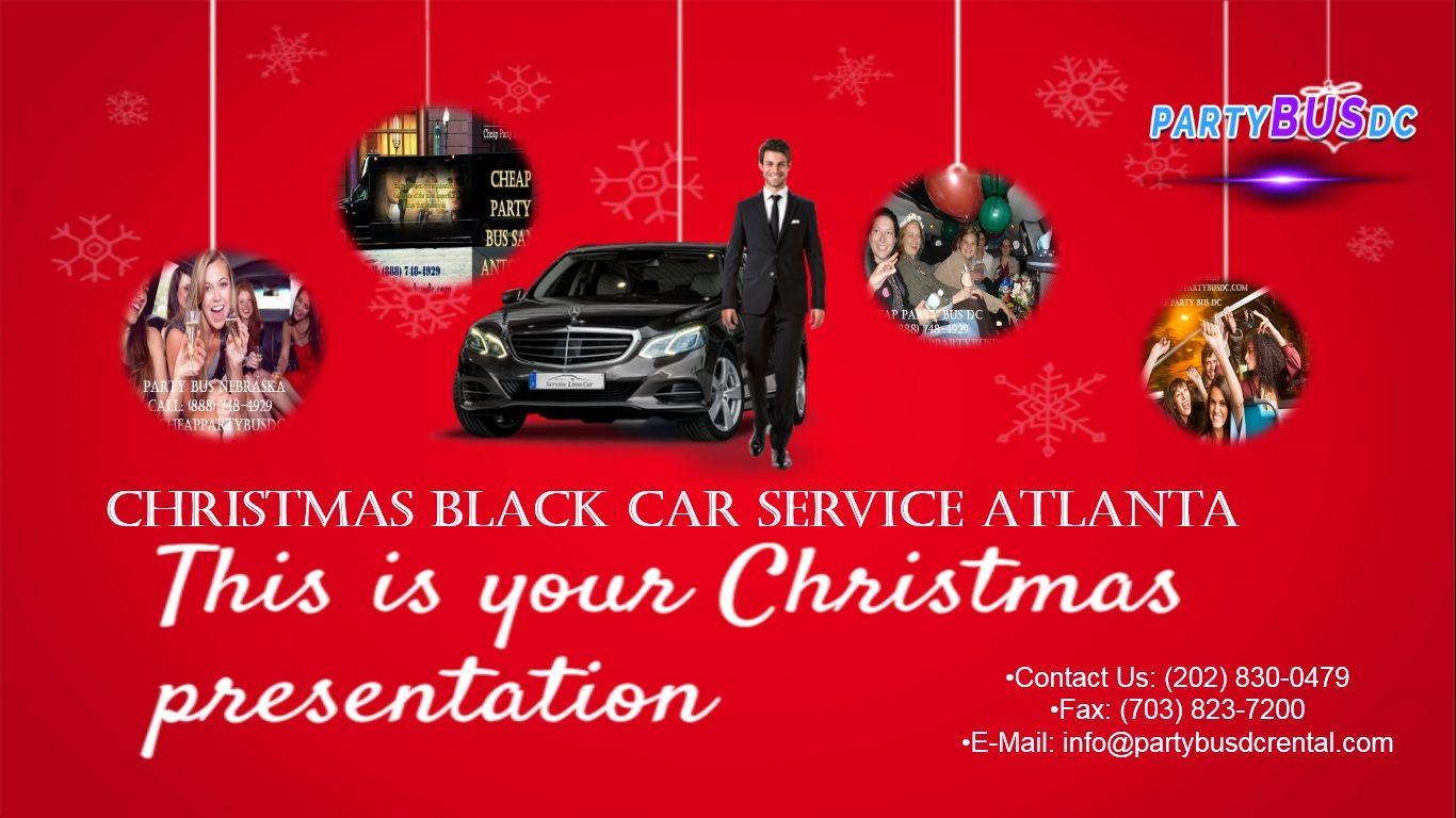 Christmas Black Car Service Atlanta Black car, Black car