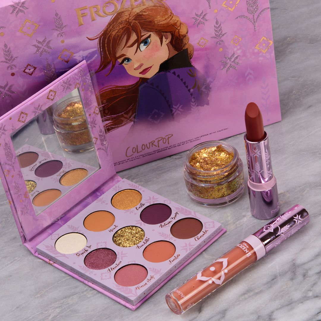 ColourPop x Disney Frozen II: Anna Collection - Swatches | Disney ...