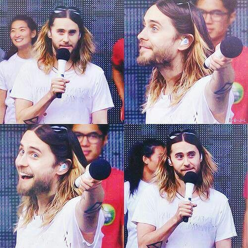 Jared Leto Hollywood Bowl soundcheck 10/12/13