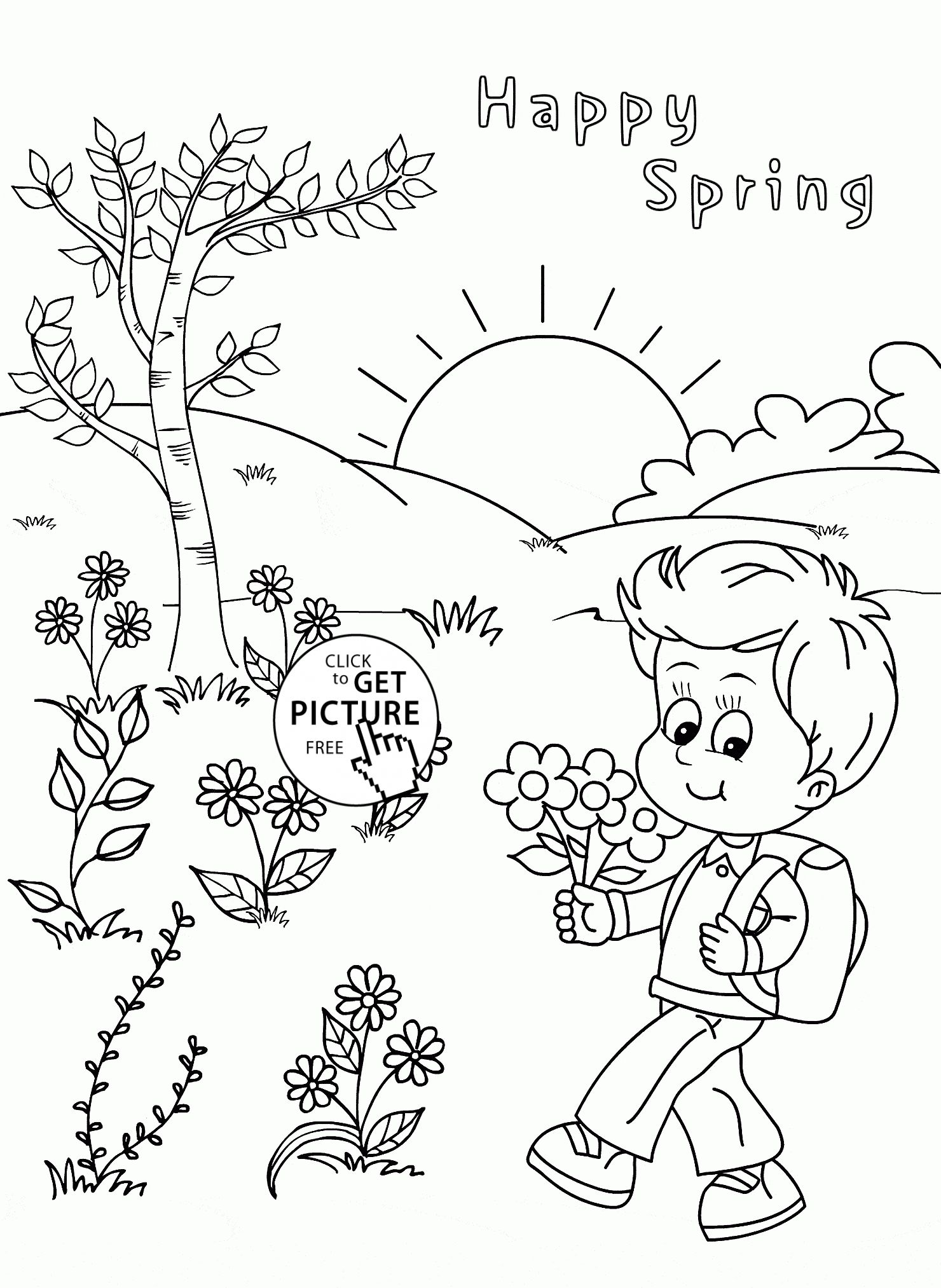 Free Coloring Pages Of Money On Tree Printable Spring Coloring Pages Coloring Pages For Kids Coloring Pages For Boys