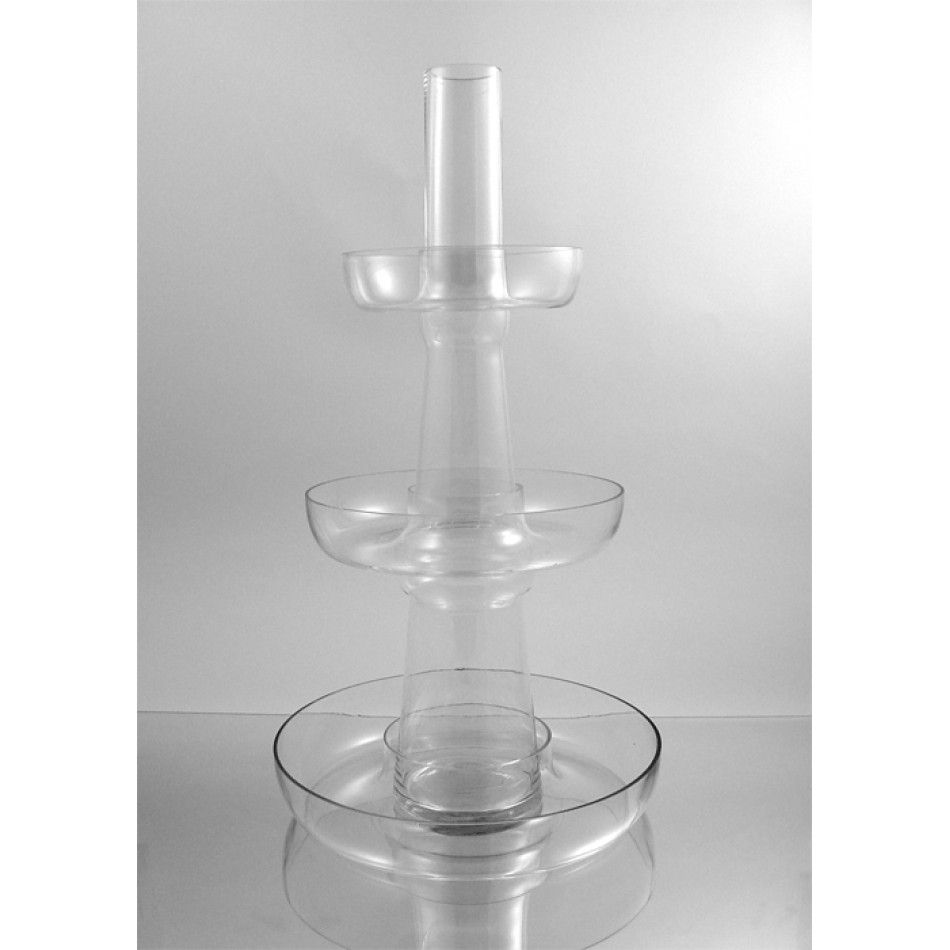 Clear 3 Layer Fountain Vase (BULK Case of 2 = $74.50 Per Vase ...