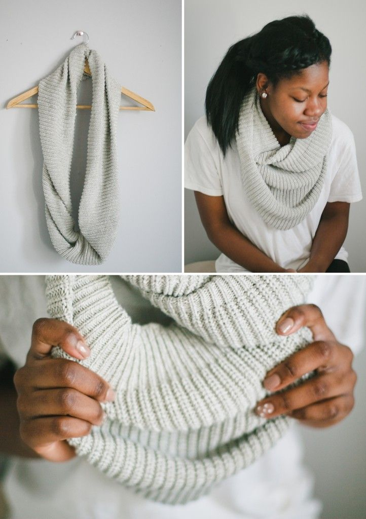 infinity scarf from a sweater