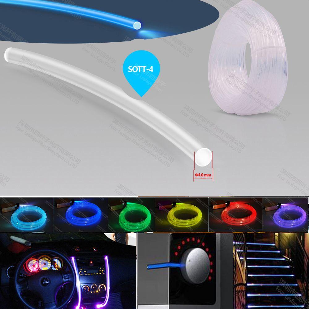 factory super brightness 4mm plastic side glow optical fiber optic