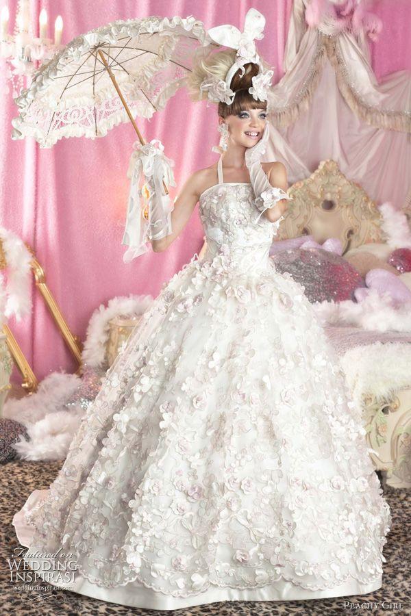 Peachy Girl Pink Wedding Dresses | Novios, De novia y Vestidos de novia