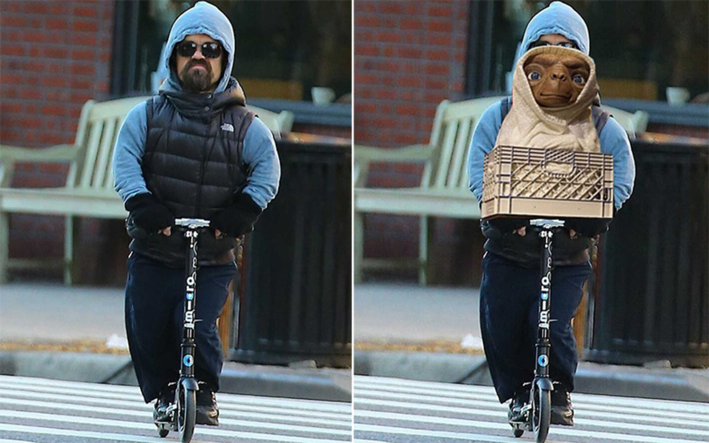 Photo Of Peter Dinklage Riding A Scooter Sparks Funniest Photoshop - Photo of peter dinklage riding a scooter sparks funniest photoshop battle ever